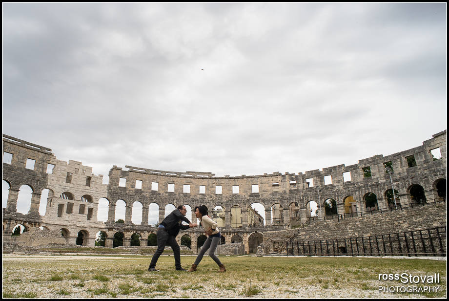 Istria Croatia Pula Amphitheater Fight