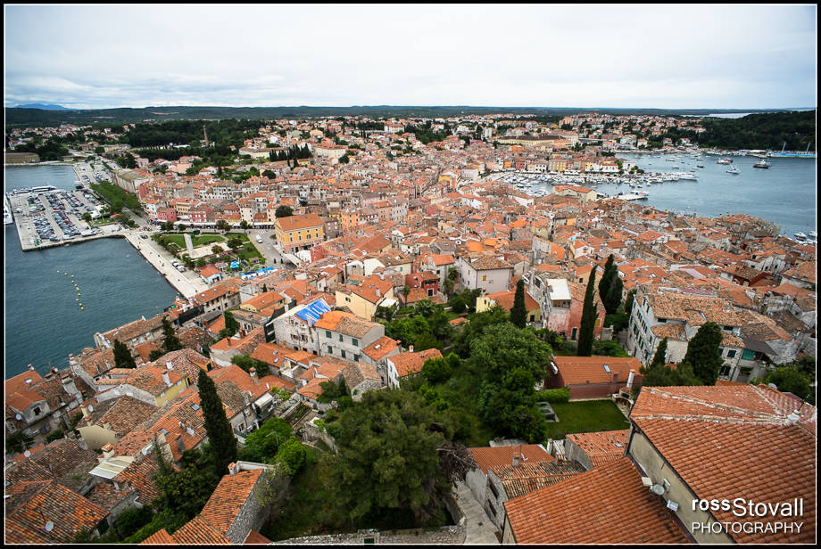 Rovinj Istria Croatia bell tower view