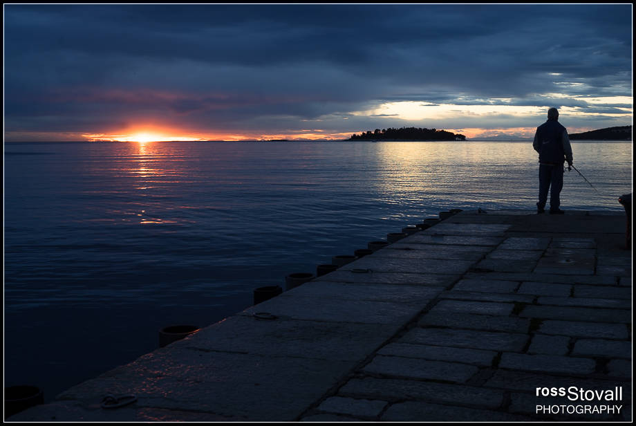 Rovinj Istria Croatia sunset