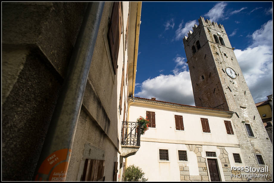 Motovun Istria Croatia bell tower